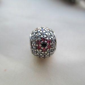 Pandora Shimmering Flower Pave Charm